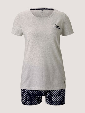 Gemustertes Pyjama-Set mit Shorts - 7 - TOM TAILOR