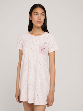 Gemustertes Nachthemd mit Brusttasche - 1 - TOM TAILOR