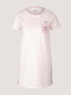 Gemustertes Nachthemd mit Brusttasche - 7 - TOM TAILOR