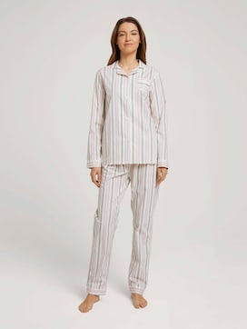 Geknöpftes Pyjama-Set mit Streifen - 1 - TOM TAILOR