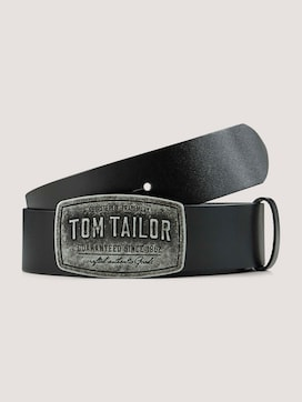 Ledergürtel mit geprägter Schnalle - 7 - TOM TAILOR