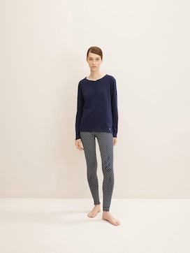 Gepunktete Pyjama Leggings - 1 - TOM TAILOR