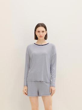 Pyjama Oberteil mit Streifen - 1 - TOM TAILOR