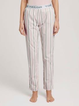 Lange Pyjamahose mit Streifen - 1 - TOM TAILOR