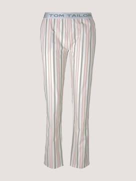 Lange Pyjamahose mit Streifen - 7 - TOM TAILOR