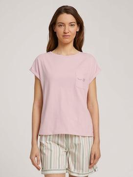 Pyjama Shirt mit Print - 1 - TOM TAILOR