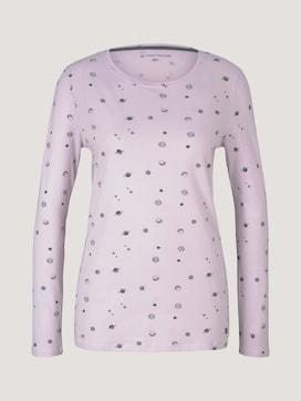 Long-sleeved pyjama shirt with a print - 7 - TOM TAILOR