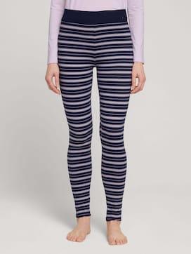 Gestreifte Pyjama Leggings - 1 - TOM TAILOR