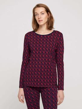 Pyjama Langarmshirt mit Print - 1 - TOM TAILOR