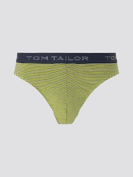 Gestreifter Slip mit Logo-Stickerei am Bund - 7 - TOM TAILOR