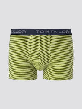 Gestreifte Hip-Pants mit Logo-Stickerei am Bund - 7 - TOM TAILOR