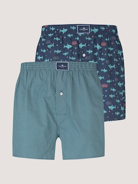 Patterned boxer shorts in a twin pack - 7 - TOM TAILOR