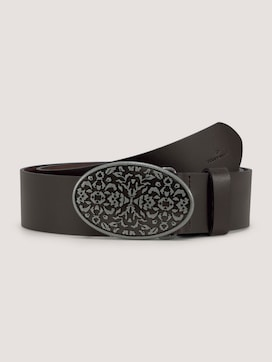 Leather belt in a used look - 7 - TOM TAILOR