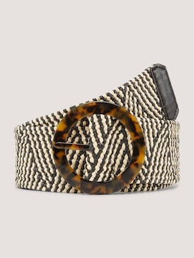 Patterned belt with a horn buckle - 7 - TOM TAILOR