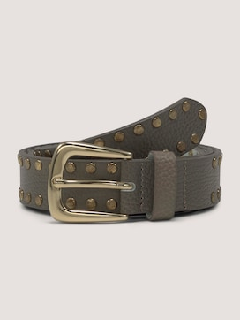 Leather belt with studs - 7 - TOM TAILOR