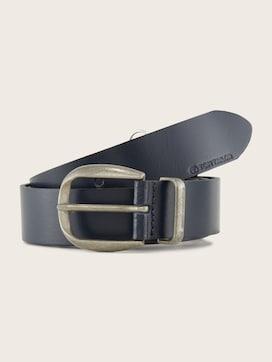 Smooth leather belt - 7 - TOM TAILOR