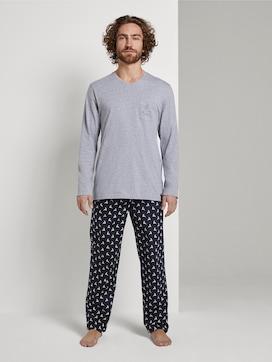 X-Mas Kollektion: Pyjama mit Elch-Motiv - 1 - TOM TAILOR
