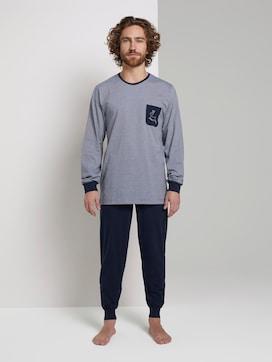 Pyjama mit gestreiftem Shirt - 1 - TOM TAILOR