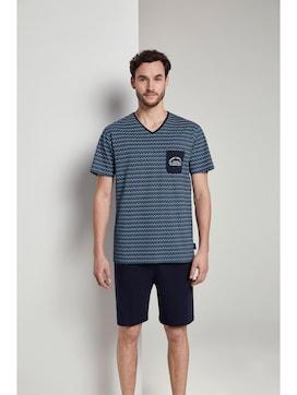 Pyjama mit gemustertem T-Shirt - 1 - TOM TAILOR