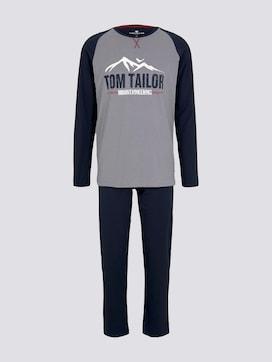 Langes Pyjama Set mit Print - 7 - TOM TAILOR