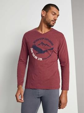 Meliertes Pyjama-Langarmshirt - 1 - TOM TAILOR