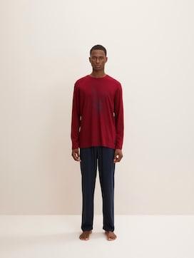Langes Pyjama Set mit Print - 1 - TOM TAILOR