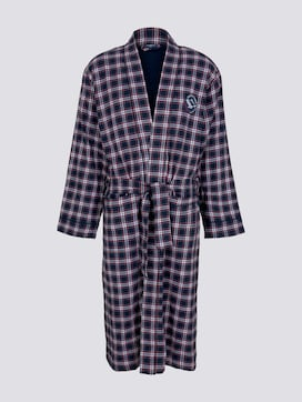 checkered bathrobe with pockets - 7 - TOM TAILOR