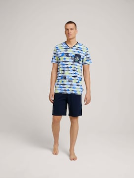 Palmen Pyjama-Set mit V-Ausschnitt - 1 - TOM TAILOR