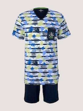 Palmen Pyjama-Set mit V-Ausschnitt - 7 - TOM TAILOR