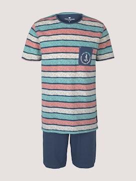 Gestreiftes Pyjama-Set mit Shorts - 7 - TOM TAILOR