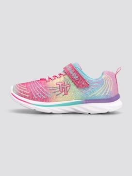 Rainbow sneakers with glitter - 1 - TOM TAILOR