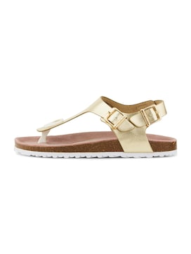 Zehentrenner Sandalen in Metallic - 7 - TOM TAILOR