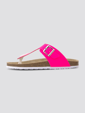 Neon coloured flip-flop sandals - 7 - TOM TAILOR