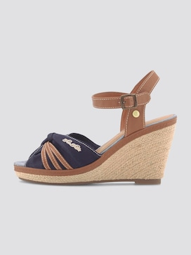 Wedge heel sandals with leather details - 7 - TOM TAILOR