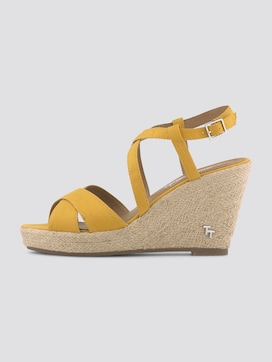 Imitation leather wedge heel sandals - 7 - TOM TAILOR