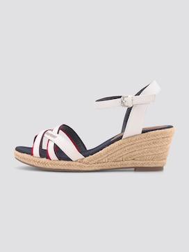 Sandalette mit Keilabsatz aus Lederimitat - 7 - TOM TAILOR