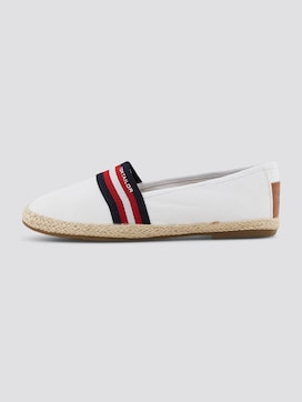 Fabric slippers with striped details - 7 - TOM TAILOR