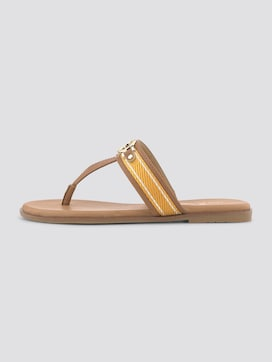 Flip-flops with a logo coin - 7 - TOM TAILOR
