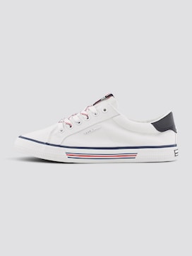 Fabric sneakers with stripe details - 7 - TOM TAILOR Denim
