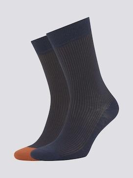 Gestreifte Ripp-Socken im Doppelpack - 7 - TOM TAILOR