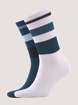 Sports socks in modern colours with stripes - 7 - TOM TAILOR
