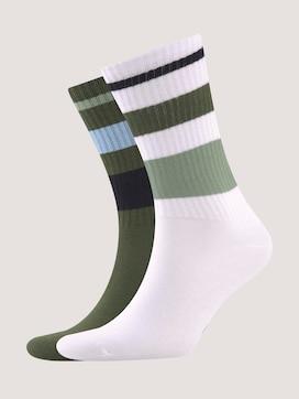 Sportsocken in modernen Farben mit Streifen - 7 - TOM TAILOR