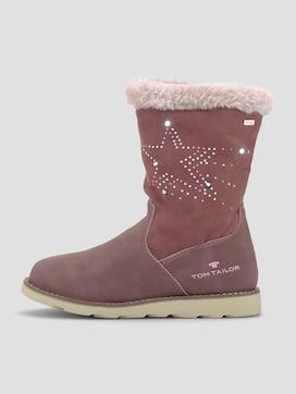 Gevoerde laarzen met straatsteentjes - 7 - TOM TAILOR