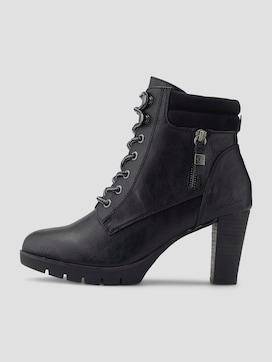 lace-up heeled ankle boots - 7 - TOM TAILOR