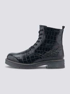 Croc lace-up boots - 7 - TOM TAILOR