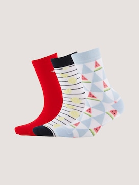 Patterned socks in a pack of three - 7 - TOM TAILOR
