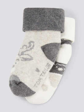 2-pack baby socks with plush - 7 - TOM TAILOR