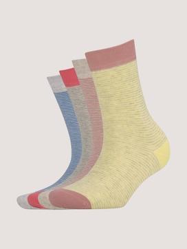 Gestreifte Socken im Viererpack - 7 - TOM TAILOR