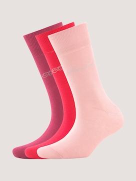 Basic-sokken in effen kleur in een verpakking van drie - 7 - TOM TAILOR