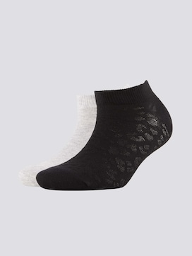 Sneaker socks with a leopard pattern in a twin pack - 7 - TOM TAILOR